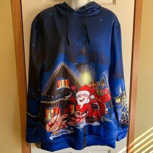 NWT John Hancock 3XL Santa hoodie Christmas